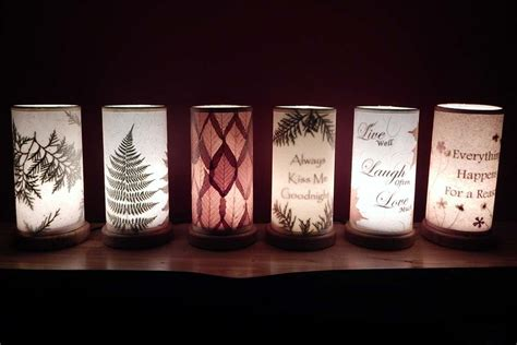Handmade Accent Lighting Nightlights With Leaves Made