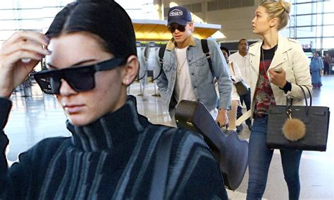 cent gigi chair kendall jenner and gigi hadid rock skintight trousers as