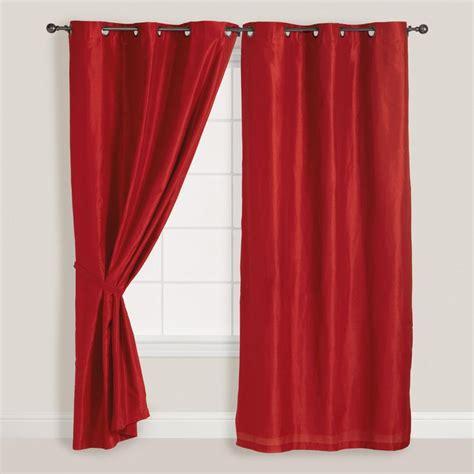 red grommet curtains red dupioni grommet curtain world market fisherprice