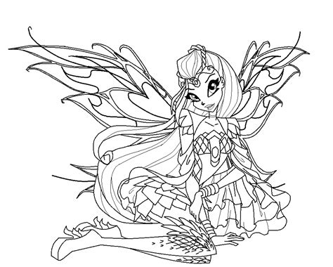 winx club bloom bloomix coloring pages