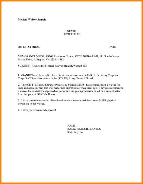 Waiver Request Letter Exle waiver letter template portablegasgrillweber