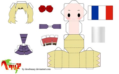 3d paper doll template hetalia chibi papercraft by tsunyandere on deviantart