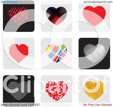 heart layout app clipart of heart app icon button design elements royalty