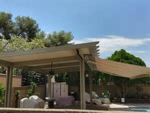 Mesa Awning Freestanding Alumawood Patio Cover With Retractable Awning