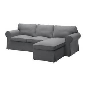 sofa ektorp ektorp two seat sofa and chaise longue nordvalla grey