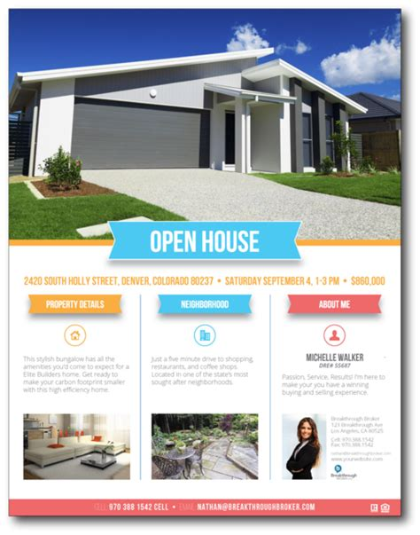 house brochure template open house resources