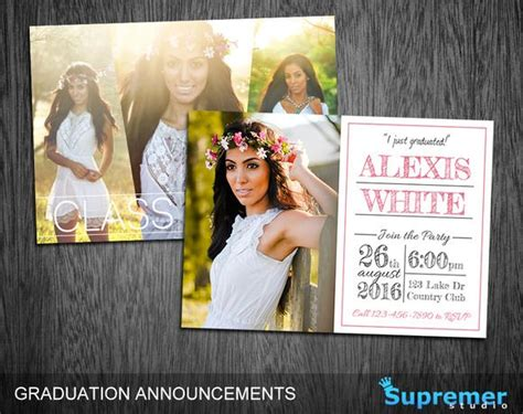 1000 ideas about graduation announcement template on