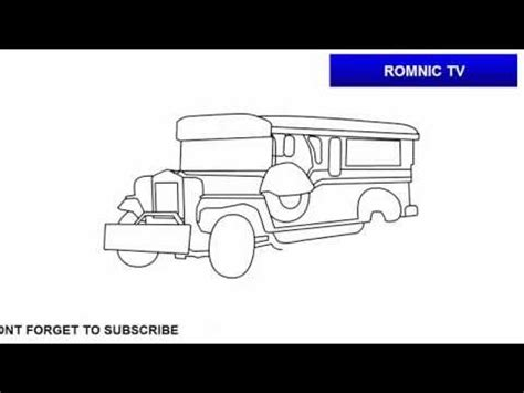 philippine jeep drawing how to draw jeepney of the philippines