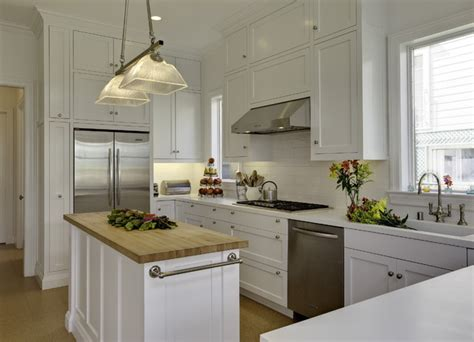 White Kitchen Island With Butcher Block Top butcher block island traditional kitchen mahoney
