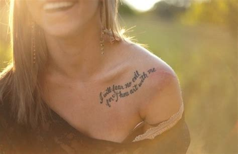 shoulder quote tattoos collar bone quotes quotesgram