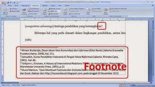tata cara membuat footnote salisya rahmawati cara membuat catatan kaki di word 2003