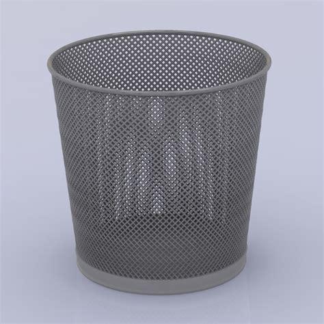 waste paper basket 3d model 3d model trash basket