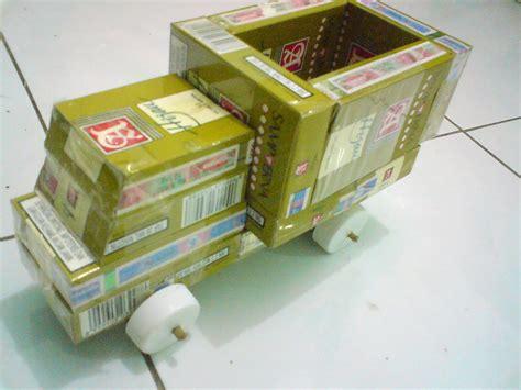 Membuat Mobil Dari Kardus Rokok | 5 contoh kerajinan tangan dari bungkus rokok mudah dibuat