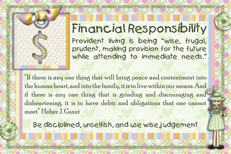 8 Tips On Teaching Your Financial Responsibility by Steadfast And Immovable Financial Responsibility Handout
