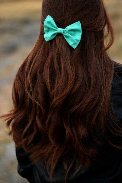 bow in her hair and rear view i love her hair color the bow really stands out