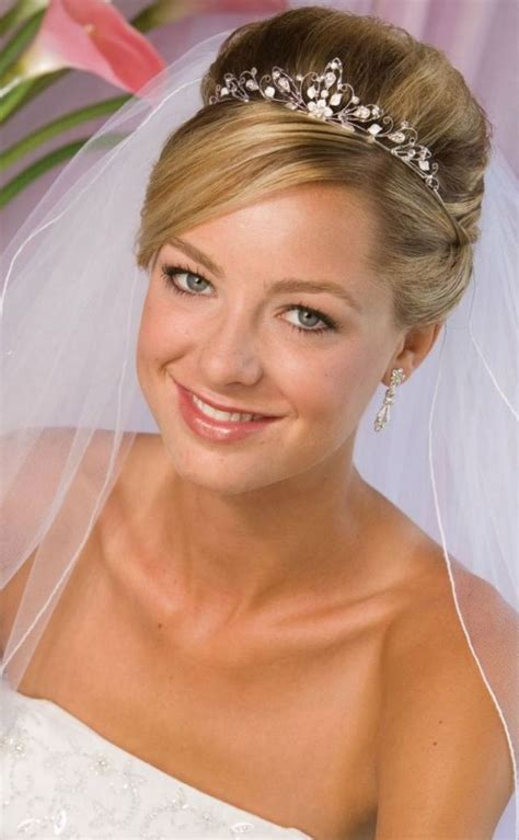 Wedding Hair Up With Veil And Tiara by Wedding Hairstyle With Tiara