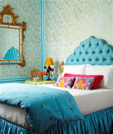 turquoise bedroom wallpaper guest post nine splendid ways to illuminate your bedroom