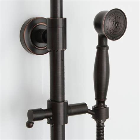 Bathtub Fixtures With Handheld Shower Exposed Wall Mount Brushed Oil Rubbed Bronze Finish Tub