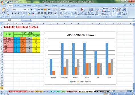 download format absensi siswa excel aplikasi absen siswa plus grafik format microsoft excel