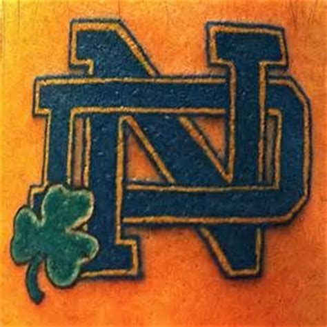 notre dame tattoo tattoos and on