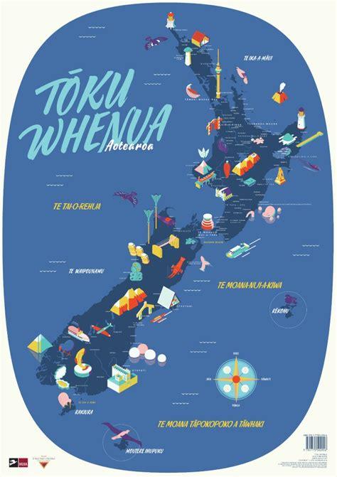 te reo maori map poster toku whenua aotearoa