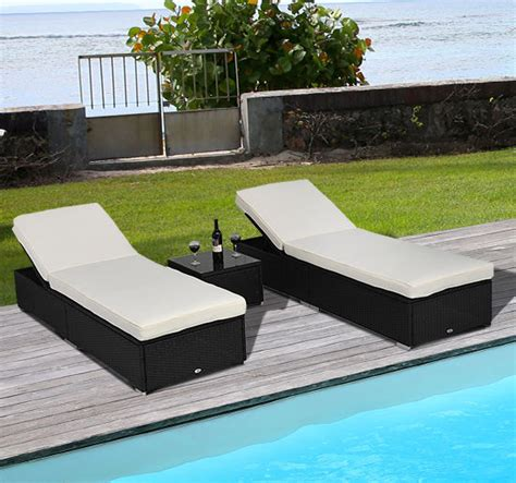 jaunt outdoor wicker rattan chaise lounge chair 3pc rattan wicker chaise lounge chair set outdoor patio