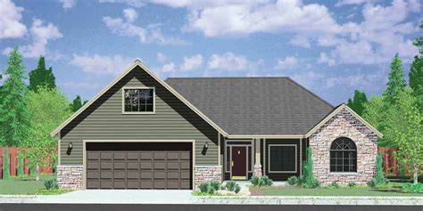 one story house plans with bonus room ranch house plans american house design ranch style home