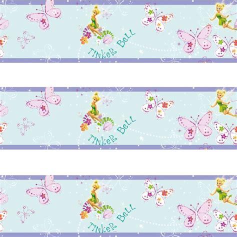 disney wallpaper border uk disney tinkerbell butterfly self adhesive wallpaper border