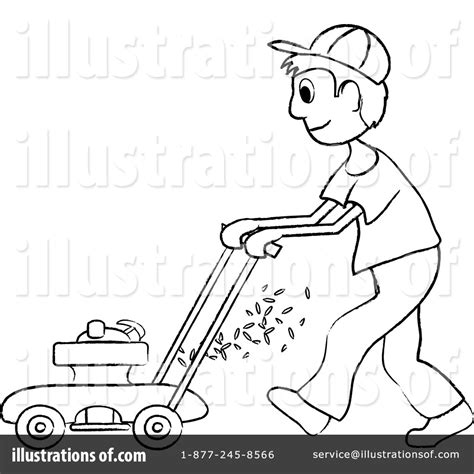 Mowing Grass Colouring Pages Page 2 sketch template