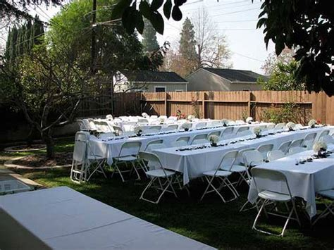 diy wedding backyard reception ideas design idea and