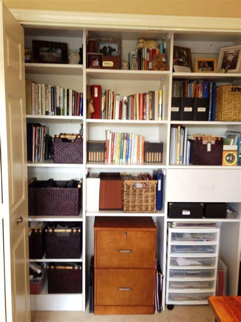 organized home office closet great blog  follow