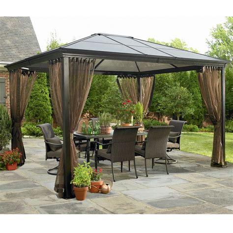 garden oasis 10 x 12 hardtop gazebo netting set