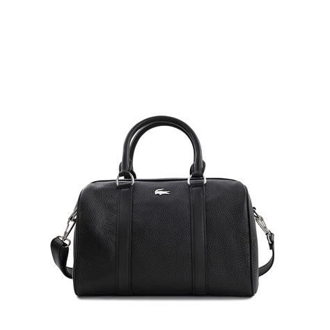 Lcost Bag lacoste ren 233 e medium boston bag in black lyst