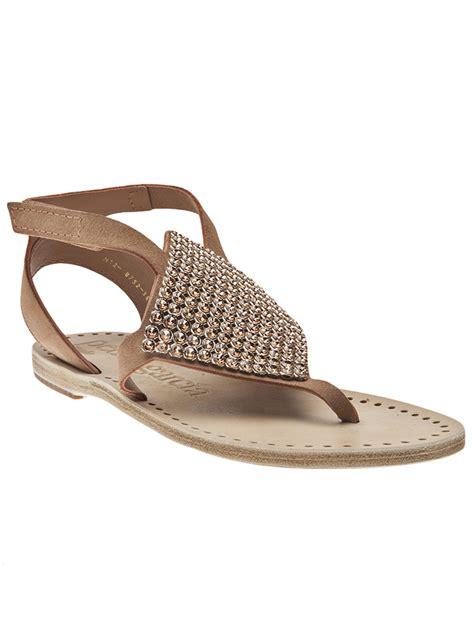 blush sandals pedro garcia ivana flat sandal in gold blush lyst