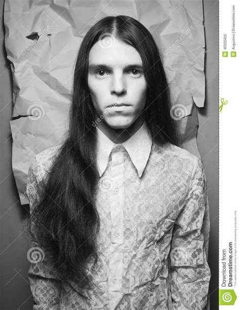 little boy long hair oldfashoined old fashioned portrait of a long haired boy stock image