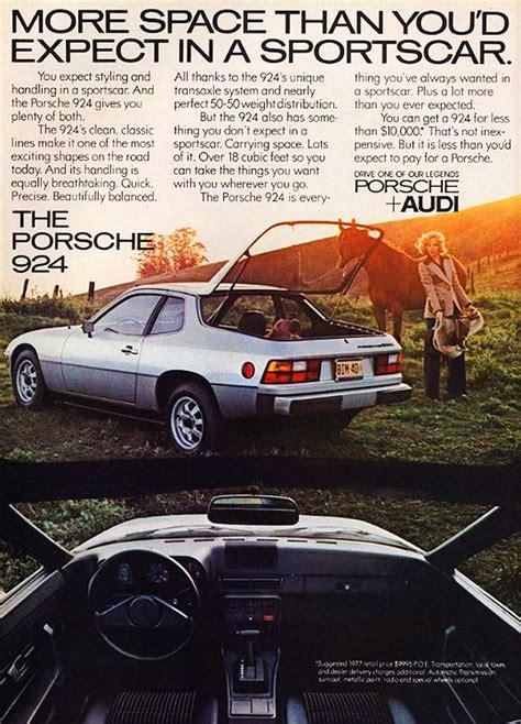 vintage porsche ad 1977 porsche 924 ad cars today