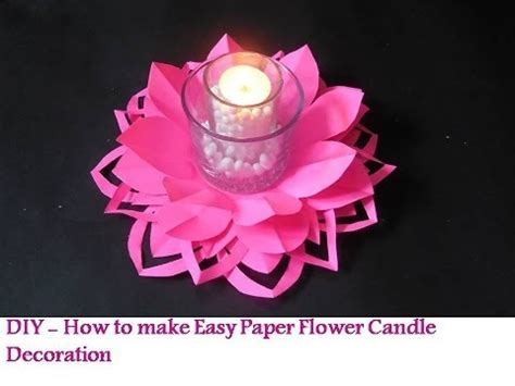 How To Make Paper Like Plastic - recycled diy flower like candle holder decoration with