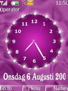 nokia themes love clock download pink clock nokia theme mobile toones