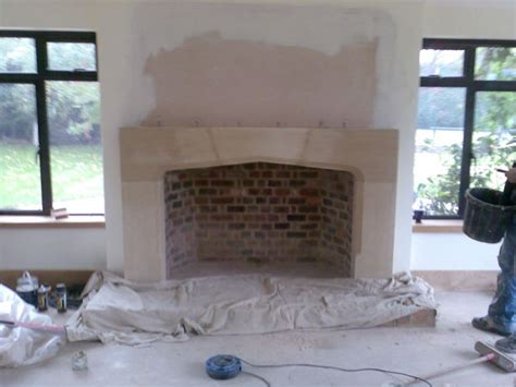 Large Fireplace by Large Tudor Fireplace Complete With Flue System In