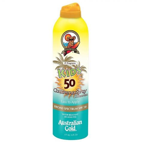 Suncreen Gold Spf 50 australian gold continuous spray sunscreen spf 50 6