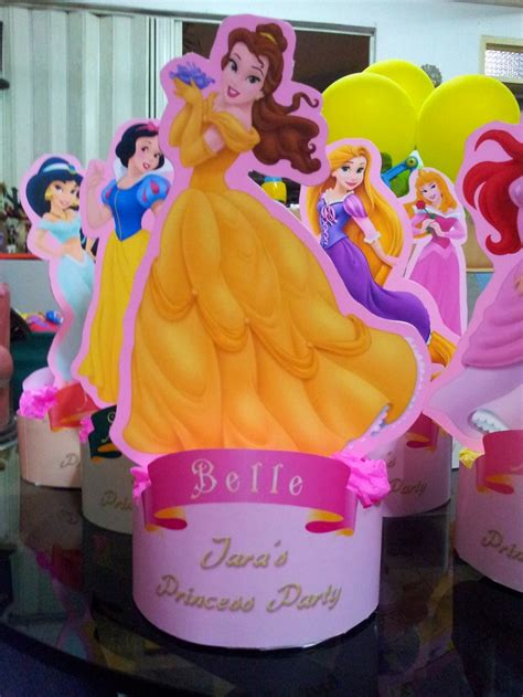 disney princess centerpiece parteeees pinterest