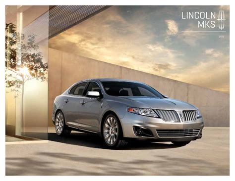 2013 lincoln mkx brochure ford 2012 mks lincoln sales brochure