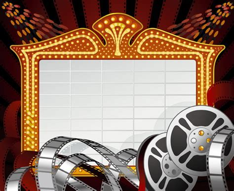 themes in film movie themes design vector graphic download free download