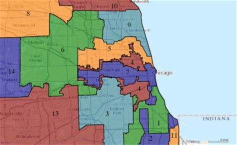 chicago voting district map illinois congressional districts