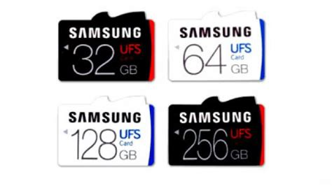 Memory Card Samsung 256gb Samsung Announces Ufs Superfast Sd Cards Up To 256gb