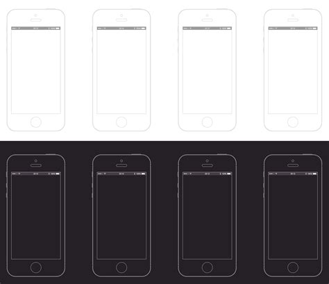 Iphone 5s Sketch Wireframe Template Free Psd Vector Icons Sketch Wireframe Template