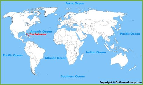 where is the bahamas on the world map the bahamas location on the world map