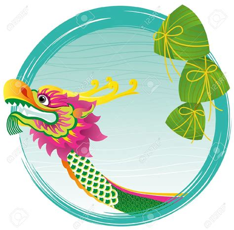 cartoon chinese boat dragon festival clipart clipground