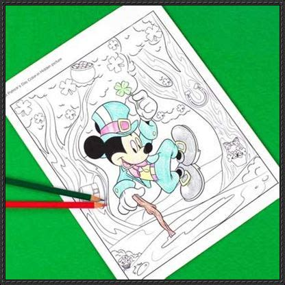 St Mickey Colour Kid st s day mickey mouse coloring page for