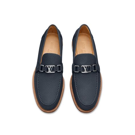 louis vuitton loafer shoes for louis vuitton major loafer in blue for marine lyst